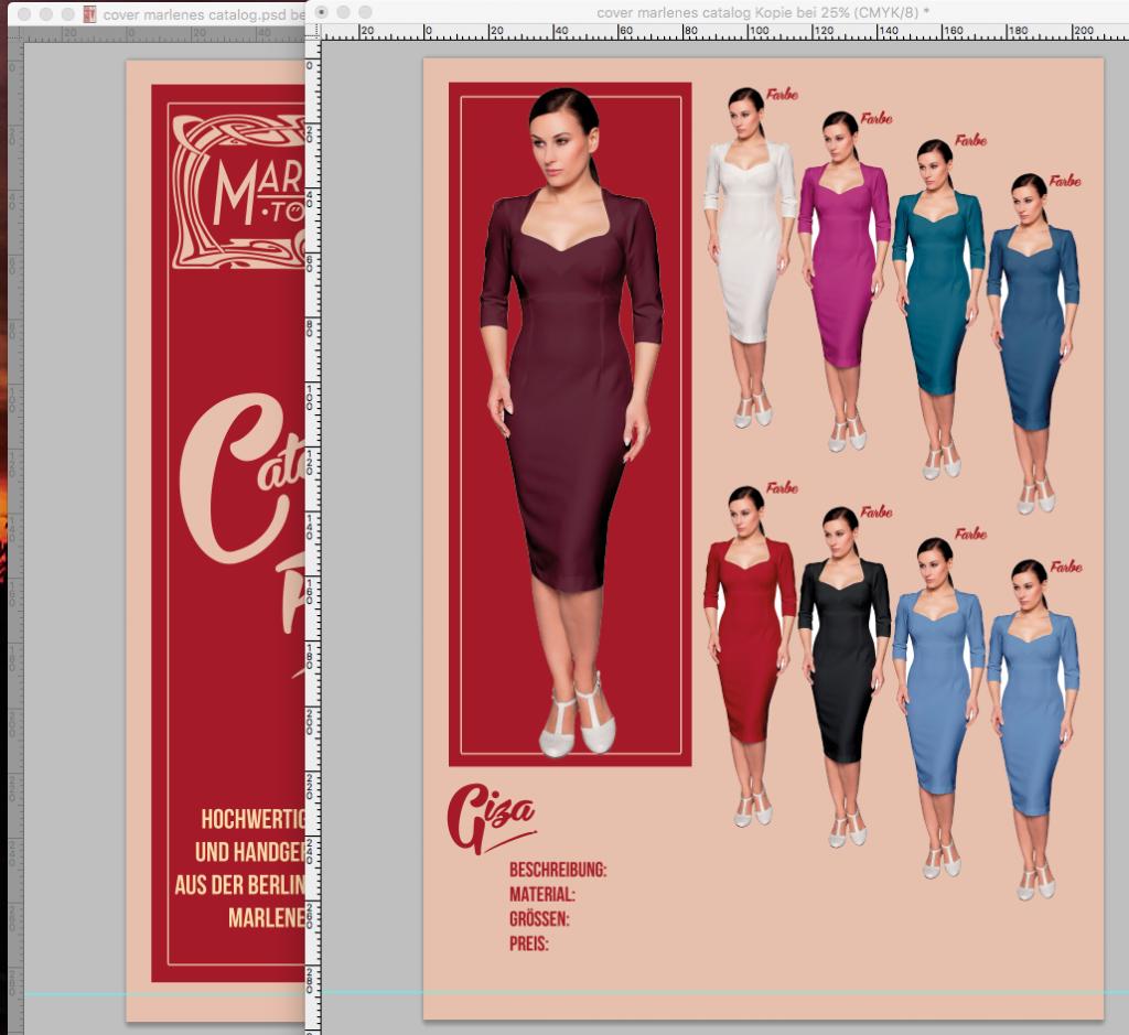 Katalog Design für Marlenes Töchter by Flying Piston Studios